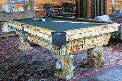 teton rustic pool table